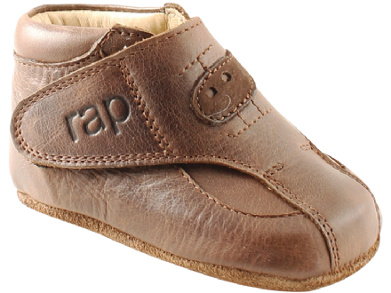 RAP BABY First Shoes Boots Velcro (Brown) 18 only!
